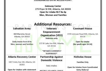 Latest housing and meal resource lists from Partners for Home.